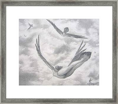 Icarus Suits Framed Print by Julianna Ziegler