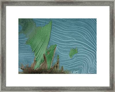 Ice Abstract 11 Framed Print