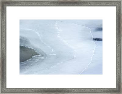 Ice Abstract 3 Framed Print