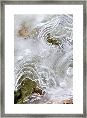 Framed Print featuring the photograph Ice Abstract by Christina Rollo