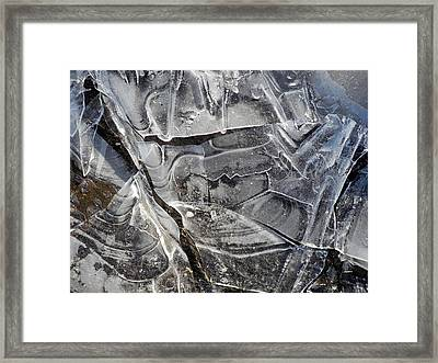 Ice Abstract Framed Print by Lynda Lehmann