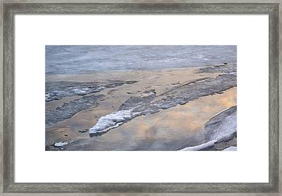 Ice And Clouds 2  Framed Print