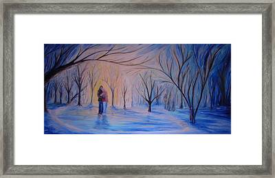 Ice And Embers Framed Print by Daniel W Green