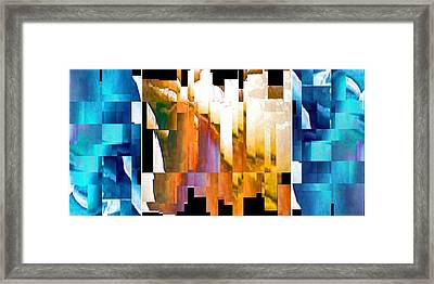 Ice And Fire Framed Print by Gyorgy Szilagyi
