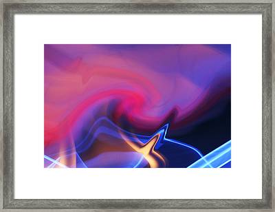 Ice And Flame Framed Print
