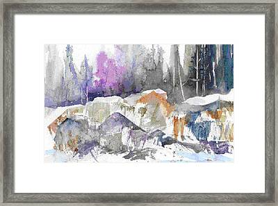 Ice And Rocks Framed Print