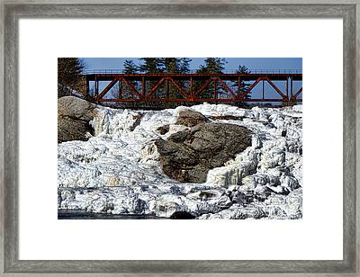 Ice And Steel Framed Print