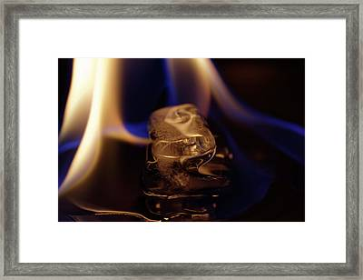 Framed Print featuring the photograph Ice Art No 15 by Rico Besserdich