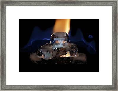 Framed Print featuring the photograph Ice Art No 16 by Rico Besserdich