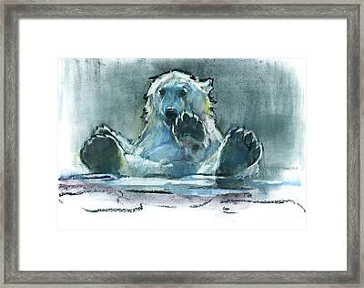 Ice Bath Framed Print by Mark Adlington