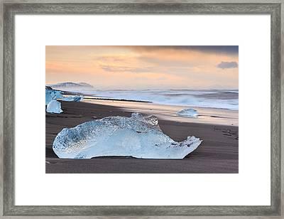 Ice Beach Framed Print