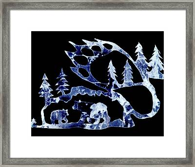 Framed Print featuring the photograph Ice Bears 1 by Larry Campbell