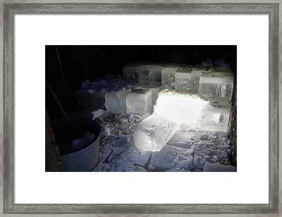 Ice Blocks In House Framed Print