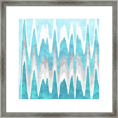 Ice Blue Abstract Framed Print