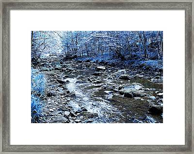 Ice Blue Forest Framed Print