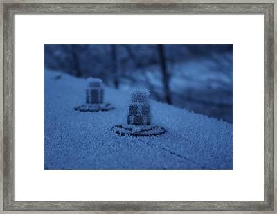 Ice Bolts Framed Print