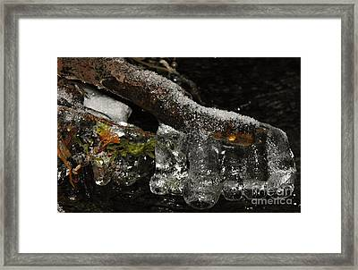 Ice Boots Framed Print