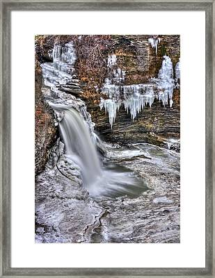 Ice Breaker Framed Print by Evelina Kremsdorf