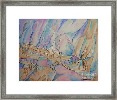 Ice Cascade Framed Print by Marcella Muhammad