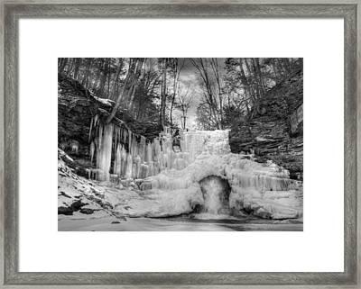 Ice Castle Framed Print by Lori Deiter