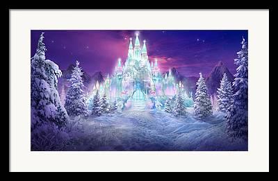 Snow Scenes Mixed Media Framed Prints