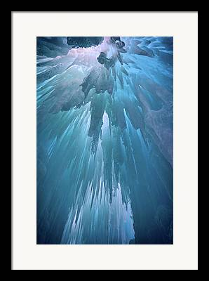 Ice Formations Framed Prints