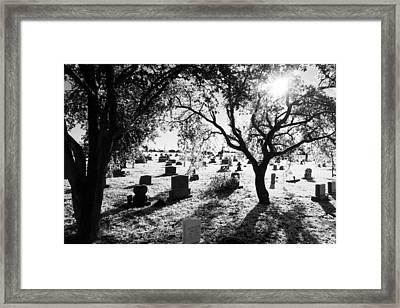 Ice Cemetery Framed Print by Graham Dixon