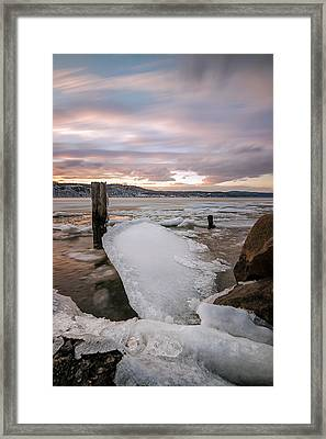 Ice Chips Framed Print