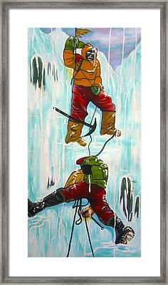 Ice Climbers Framed Print by V Boge