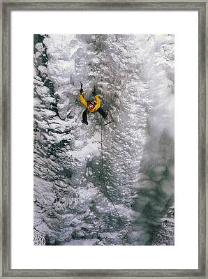 Ice Climbing In The South Fork Valley Framed Print