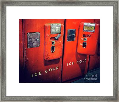 Ice Cold Red  Framed Print by Steven Digman