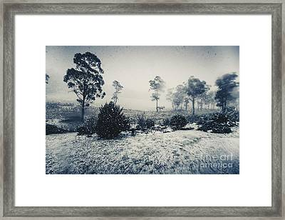 Ice Cold Winter Background Framed Print