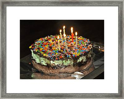 Ice Cream Cake Framed Print
