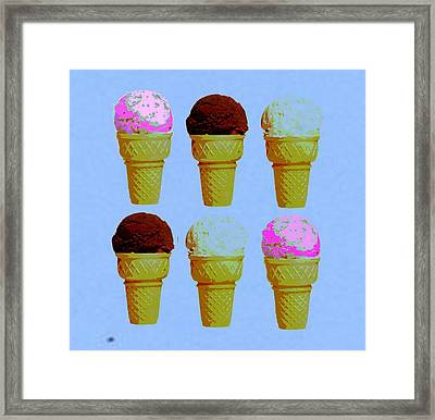 Ice Cream  Framed Print by Chandler  Douglas