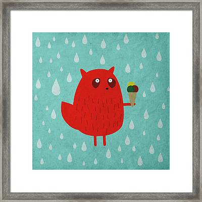 Ice Cream Dreams #5 Framed Print by Fuzzorama
