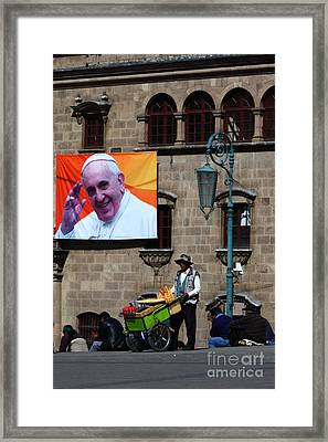 Ice Cream For Pope Francis Framed Print by James Brunker