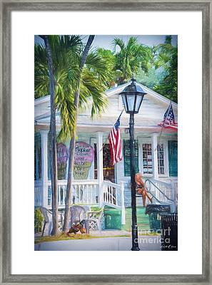 Ice Cream In Key West Framed Print