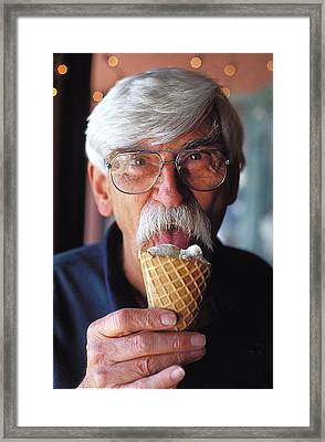 Ice Cream Moustache In Orlando Florida Framed Print by Carl Purcell