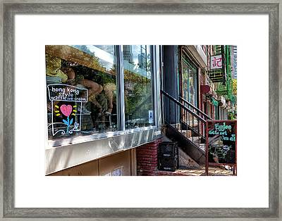 Ice Cream Parlor Chinatown Nyc Framed Print by Robert Ullmann