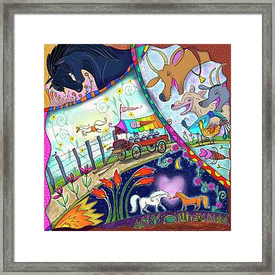 Framed Print featuring the digital art Ice Cream Pony by Marti McGinnis