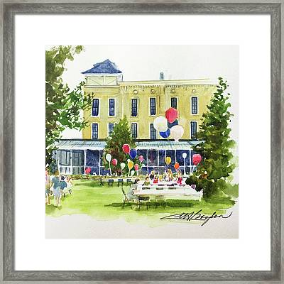Ice Cream Social And Strawberry Festival, Lakeside, Oh Framed Print