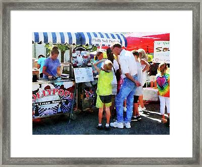 Ice Cream Stand Framed Print by Susan Savad