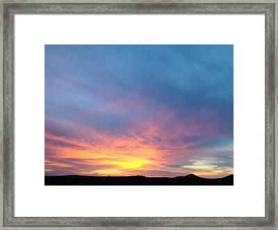 Ice Cream Sunset Framed Print by Ana Villaronga