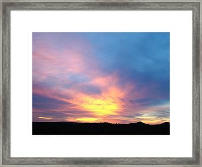 Ice Cream Sunset Three Framed Print by Ana Villaronga