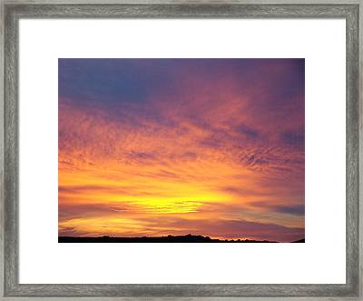 Ice Cream Sunset Two Framed Print by Ana Villaronga