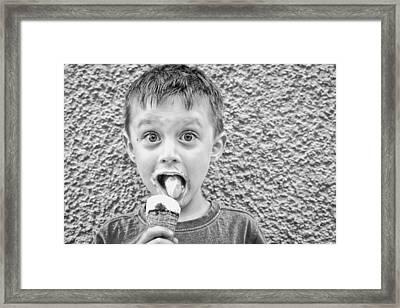 Ice Cream Framed Print by Tom Gowanlock