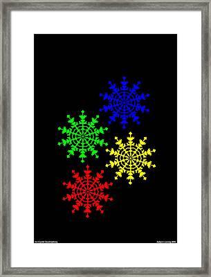 Ice Crystal Framed Print by Asbjorn Lonvig