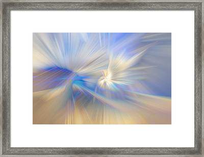Ice Crystals Framed Print by Debra and Dave Vanderlaan