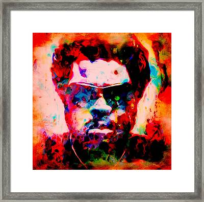 Ice Cube 03c Framed Print by Brian Reaves