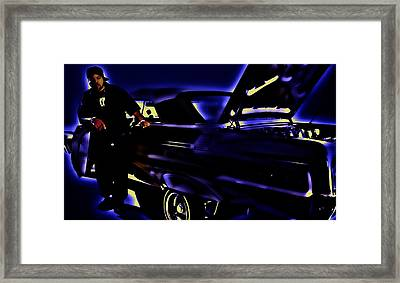 Ice Cube And His Chevy Impala II Framed Print by Brian Reaves